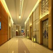 金碧辉煌的酒店电梯