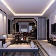 中式家装冷色调装饰