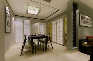 古今交融的新中式餐厅背景墙装修效果图欣赏