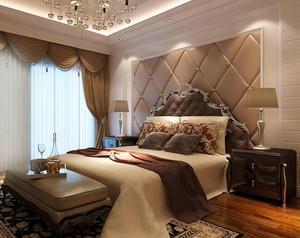 现代大卧室软包背景墙