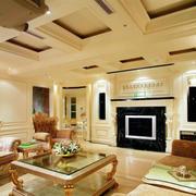 外形自由的别墅客厅