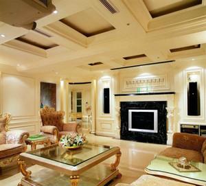 90平米巴洛克风格客厅装修效果图