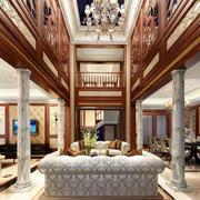 复式楼奢华客厅吊顶