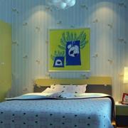 儿童房蓝色壁纸欣赏