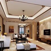 中式家装别墅客厅