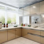 厨房咖啡色橱柜展示