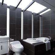 别墅卫生间黑色瓷砖
