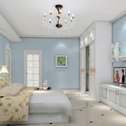 蓝色清新卧室