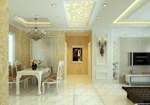 客厅走廊金色吊顶