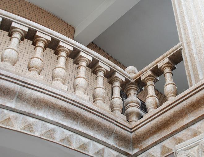 乡村 小洋房家庭 阳台 护栏小型 罗马柱 装修 效果图