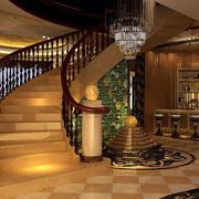 别墅客厅旋转走廊展示