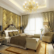金色靓丽卧室