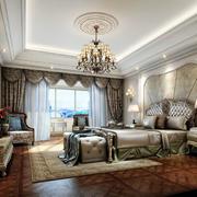 中性豪华的卧室