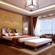 中式家装卧室背景墙