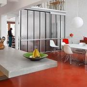 餐厅橙色地板