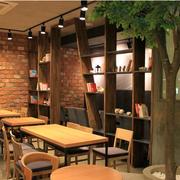 咖啡店置物架装潢