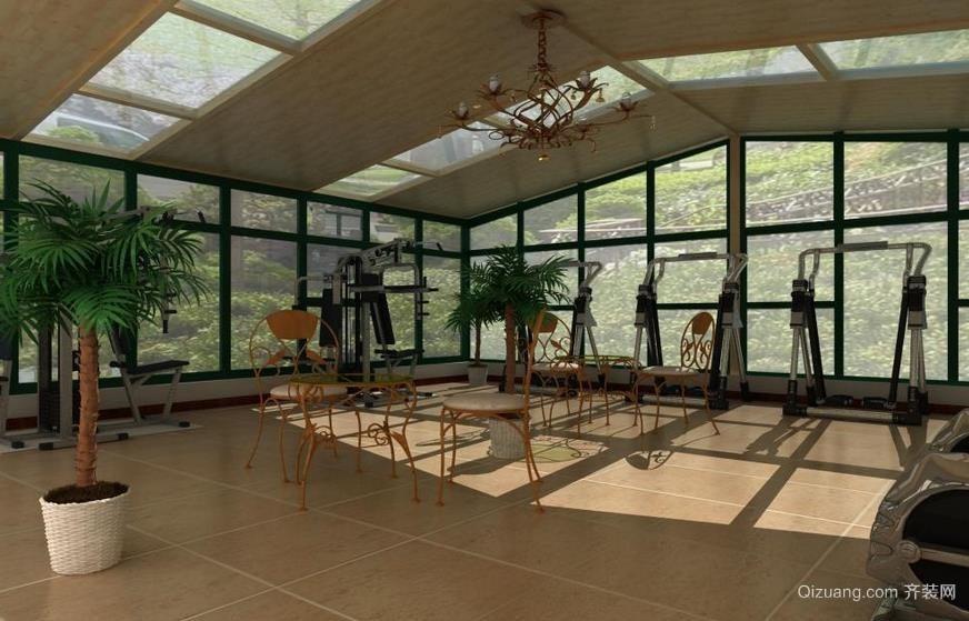公寓顶楼阳台阳光房装修效果图