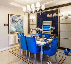 餐厅蓝色餐椅欣赏