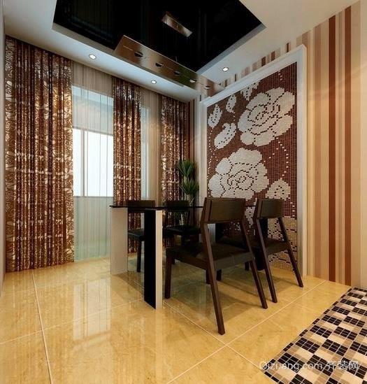 简欧风格家庭10平米餐厅墙面装饰效果图