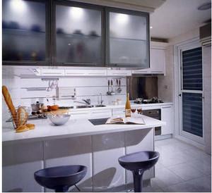 灰白色的厨房欣赏
