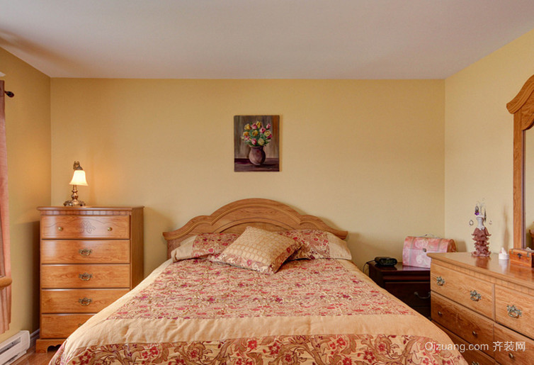 10.8万打造田园精品卧室背景墙装修效果图