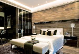 100平米美式复式楼卧室装修效果图