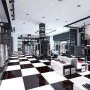 黑白系列的衣服店