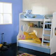 蓝色卡通儿童床