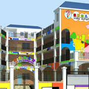 彩色亮丽的幼儿园