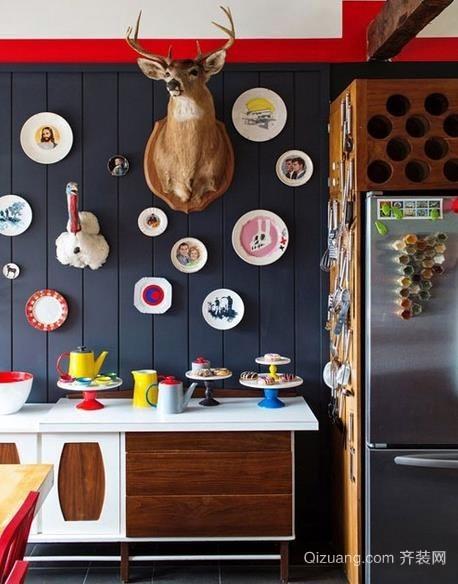 2015潮范十足的个性餐厅墙面装饰装修效果图