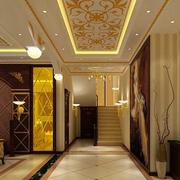 豪华金色走廊吊顶