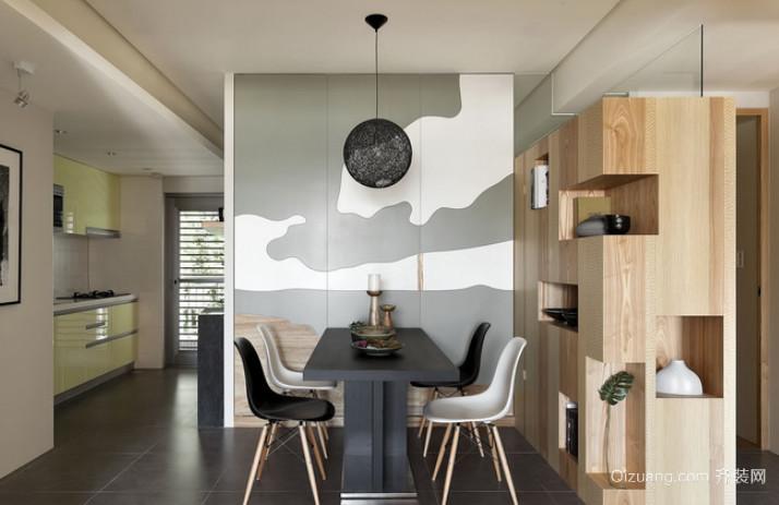 内敛大方的简欧风格餐厅背景墙装修效果图欣赏