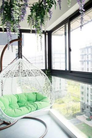 清新怡人韩式风格阳台装修效果图