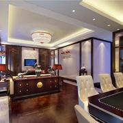 中式家装大户型客厅