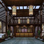 中式古典店面吊顶