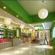 绿色清新水果店