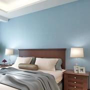 三室两厅卧室蓝色背景