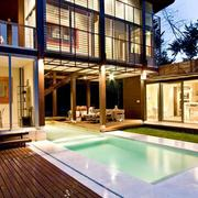 别墅庭院游泳池设计