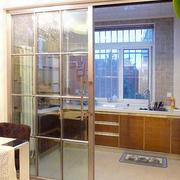 厨房玻璃推拉门展示