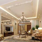 现代大户型客厅
