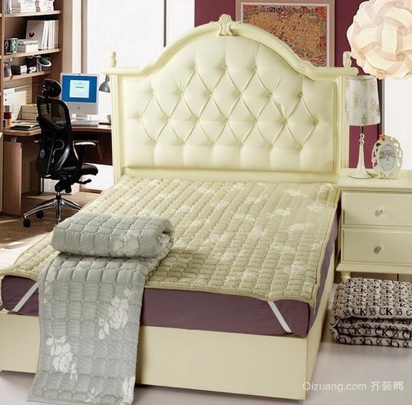 时尚简约三室一厅卧室席梦思床装修效果图