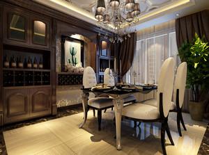 优雅非凡的新古典风格餐厅背景墙装修效果图欣赏