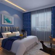 卧室蓝色壁纸欣赏