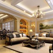 奢华的客厅石膏线吊顶