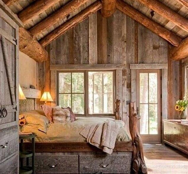 木屋别墅卧室装潢