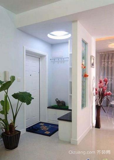 高级个性自住型商品房进门玄关装修效果图