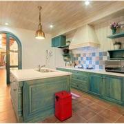 厨房美式绿色橱柜