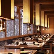 饭店餐桌椅灯饰