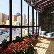 阳台花卉摆放