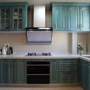 美式青色厨房